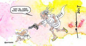 Caricatura: Adiós al año viejo