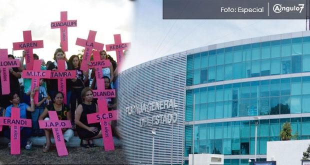 FGE registra 77 feminicidios en Puebla durante 2017, 23% menos que Odesyr