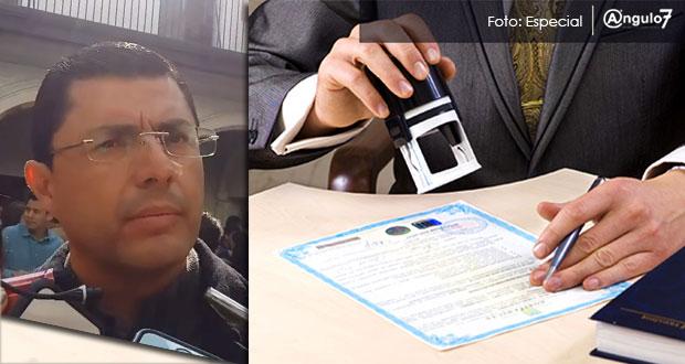 En 2018, gobierno estatal daría más patentes para notarías en Puebla