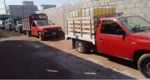 Aseguran 40 mil litros de huachicol y 8 vehículos en Texmelucan
