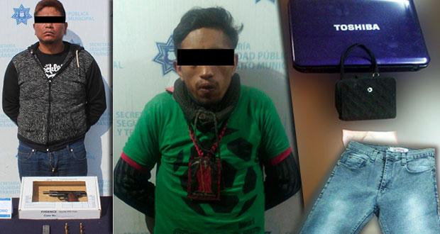 Ssptm detiene a uno por portar arma sin licencia y otro por robo