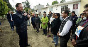 Inician pavimentación de vialidad en San Jerónimo Caleras