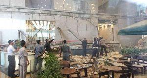 En Indonesia, colapsa balcón en bolsa de valores