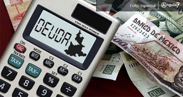 Deuda pública de Puebla bajó 11.1% en un año