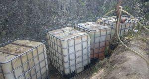 Aseguran 14 mil litros de huachicol en Santa Rita Tlahuapan