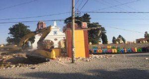 San Andrés Cholula derriba puente de Tonantzintla para construir barrio smart