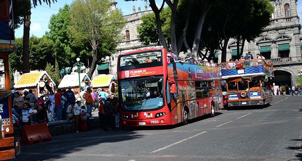 Turibuses sólo podrían subir y bajar usuarios en 16 de sept y zócalo