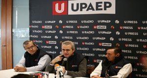 El rector de la UPAEP, el mtro. José Baños Ardavin, ofreció rueda de prensa.