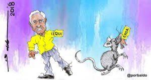 Caricatura: La izquierda devorada por roedores políticos