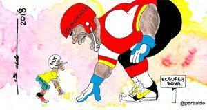 Caricatura-El-super-bowl-de-Mexico