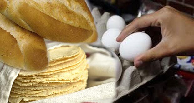 Los precios de 4 productos de la canasta básica en Puebla