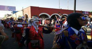 Sin polvara ni alcohol, en San Pedro Cholula celebra el carnaval bailando. Foto: Ángulo 7