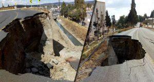 "Colapsa carril de ""puente de la muerte"" en la San Martín-Tlaxcala"