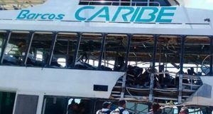 Suman 25 heridos por explosión de ferri en Playa del Carmen. Foto: Vértigo