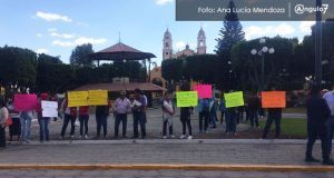 Protestan en ayuntamiento de San Andrés Cholula
