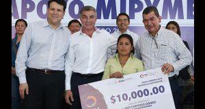 Apoyan a 449 pequeños empresarios de Puebla afectados por sismo