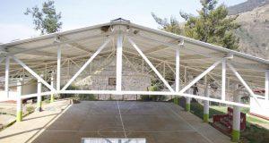 Antorcha inaugura techado en primaria bilingüe en Coyomeapan