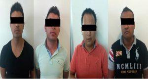 Detienen en Mayorazgo a 4 señalados por robo a cuentahabientes. Foto: Especial.