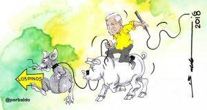 Caricatura: AMLO iría a Los Pinos con puercos y ratas