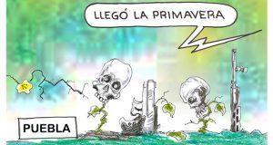 Caricatura: Llegó la primavera en Puebla
