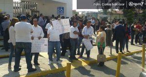 Magisterio bloquean instalaciones de SEP. Foto: Ángulo 7