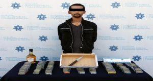 Ssptm detiene a tres sujetos señalados de asalto a transeúnte. Foto: Especial