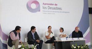 En seminario sobre desastres, se busca garantizar educación