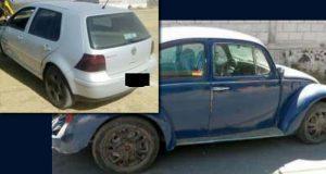 SSP recuperó dos autos robados en Cuautlancingo y Puebla capital