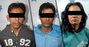 Ssptm detiene a dos hombres y una mujer por diversos robos