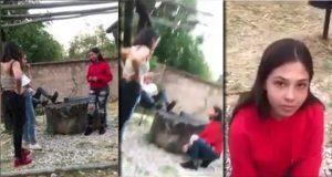 Joven obliga a otra a pedirle perdón de rodillas y difunde video
