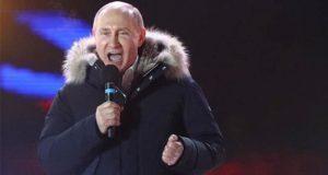 Putin es reelegido como presidente de Rusia con 70% de votos