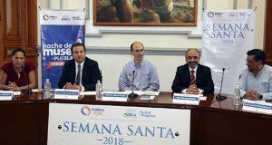 Presentan actividades en Puebla capital para Semana Santa