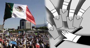61.9% insatisfecho con cómo funciona la democracia en México