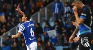 Héctor Moreno se estrena con gol en victoria de la Real Sociedad