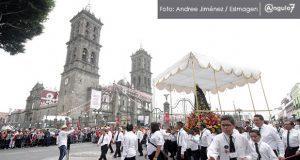En procesión de Viernes Santo, arzobispo urge combatir inseguridad en Puebla