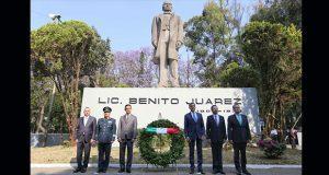 Gali conmemora el 212 aniversario del natalicio de Benito Juárez
