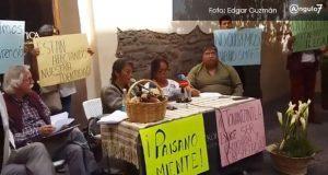 Paisano miente, obras en Barrio Smart de Tonantzintla siguen, afirman vecinos