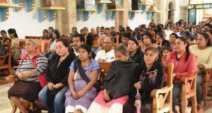 Antorchistas realizan misa en honor a exedil de Huitzilan asesinado