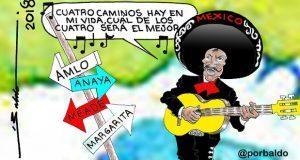 Caricatura-Las-cuatro-opciones-presidenciables