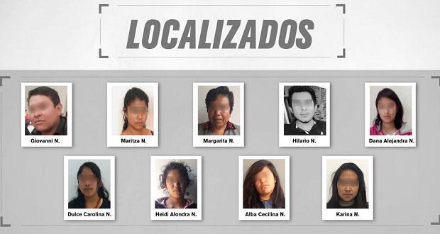 FGE localiza a 3 adultos y 6 menores reportados como desaparecidos