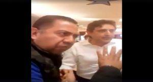 Columnista y su escolta pelean con JJ en cines de Angelópolis