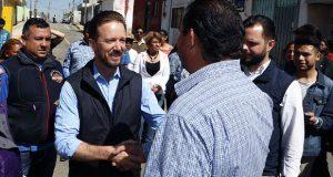 Banck supervisa remodelación de calles en San Jerónimo Caleras