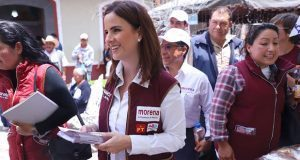 En Zacatlán, Nancy de la Sierra urge cuidar casillas el 1 de julio