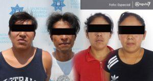 En Puebla capital, Ssptm detiene a cuatro por diferentes delitos. Foto: Especial