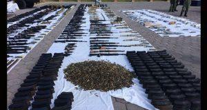 En Tamaulipas, Sedena decomisa 77 armas y libera familia de 5