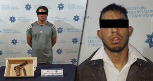 Por diversos delitos, detienen a dos y un menor en Puebla capital