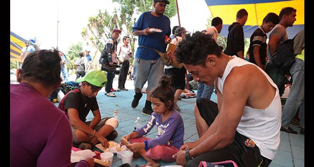 Martha Erika pide apoyo para caravana de migrantes centroamericanos
