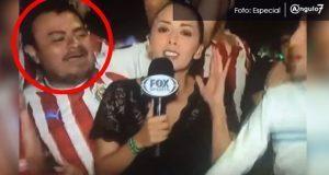 Reportera de Fox Sports, María Fernanda Mora, fue agredida sexualmente por un presunto aficionado de chivas, mientras cabria la final de Concachampions. Foto: Especial