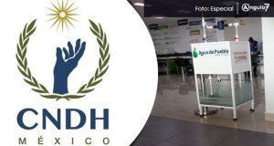 Agua de Puebla revira a CNDH, asegura no violar derechos humanos. Foto: Especial