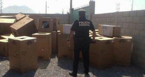 FGE y Policía Federal recuperan cargamento robado en Oriental